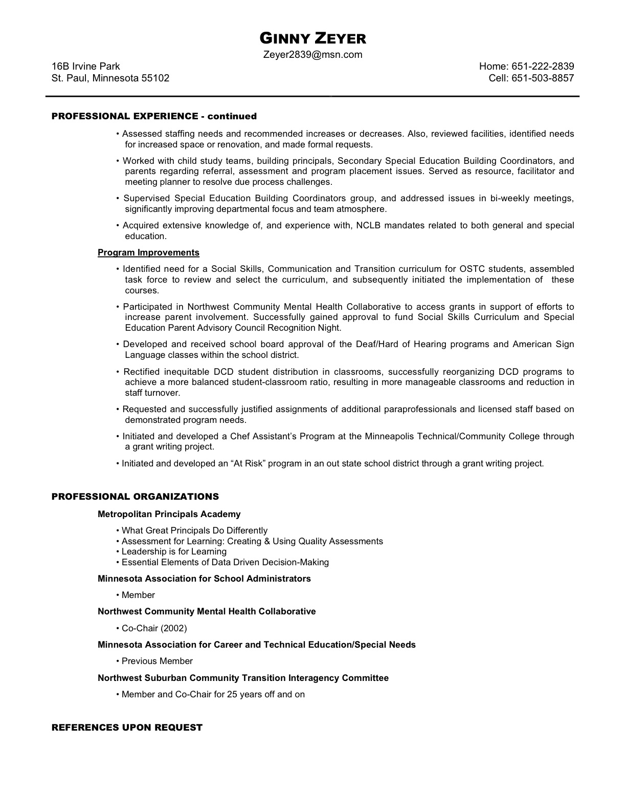 qualifications  u0026 resume